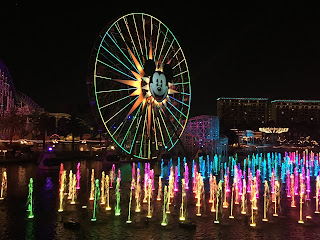 World of Color with Lit Up Mickey's Fun Wheel