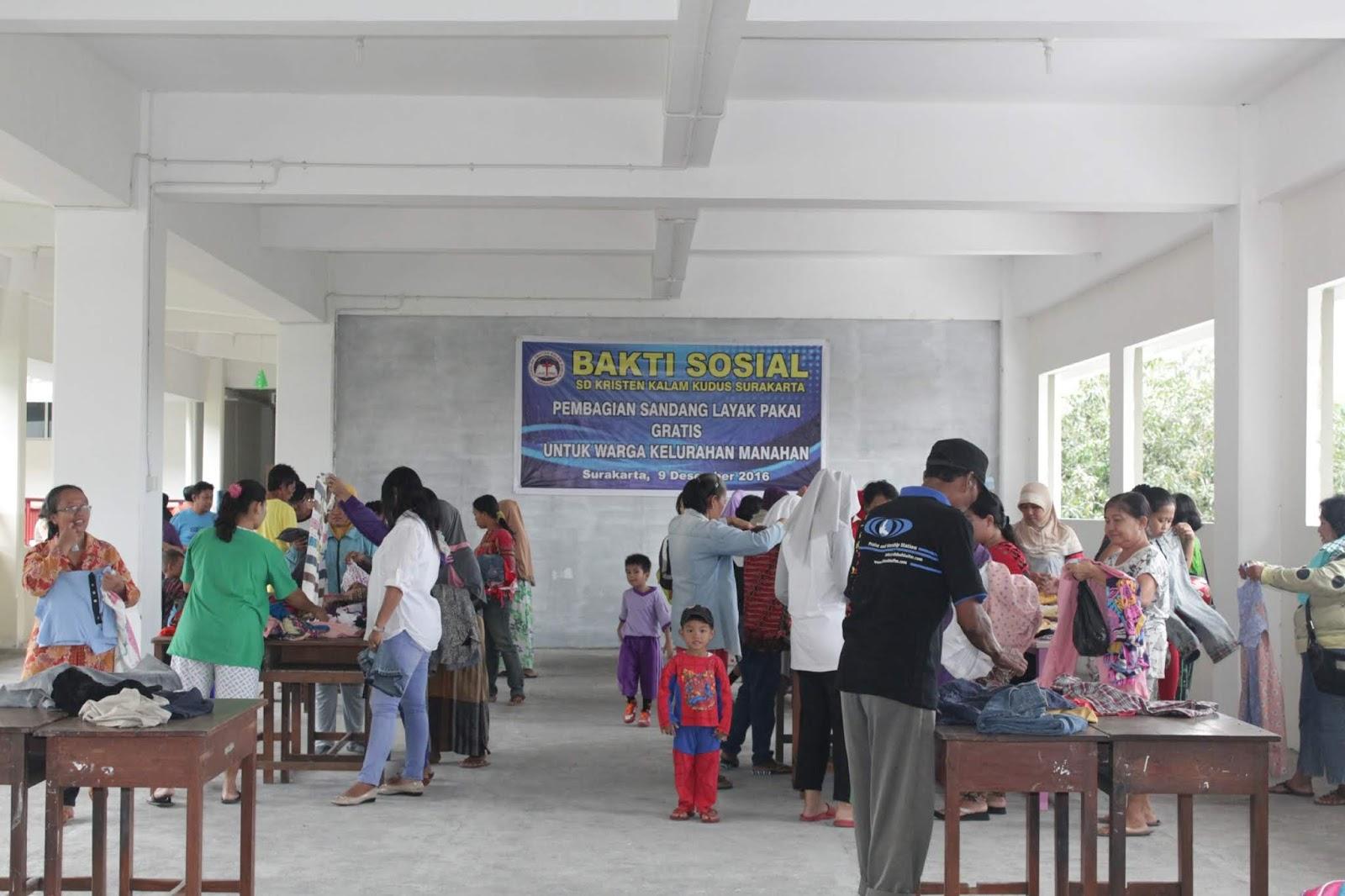 SD Kristen Kalam Kudus Surakarta Gelar Bakti Sosial