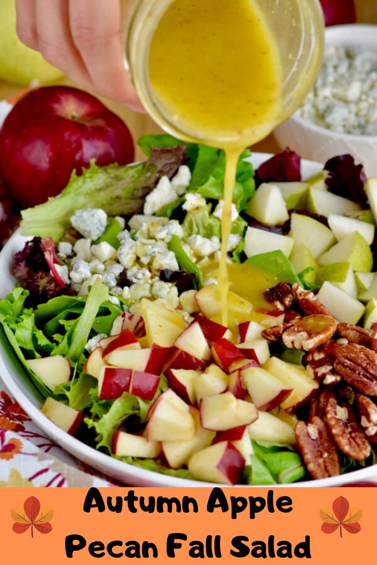 Autumn Apple Pecan Fall Salad