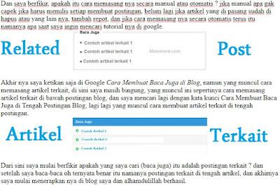 Cara Membuat baca juga di blog