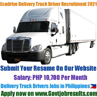 Ecodrive Delivery Truck Driver Recruitment 2021-22
