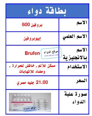 بروفين اقراص Brufen مسكن للألم , مضاد للالتهابات , خافض للحرارة