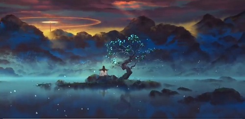 """""""Fog Hill of Five Elements"""" Anime Scenes"""