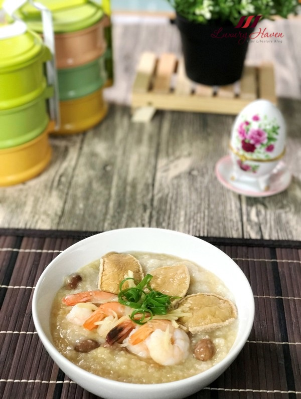 share food chicken essence cordyceps seafood congee recipe