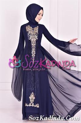 pullu siyah en güzel abiye elbise modelleri ve fiyatları 2020