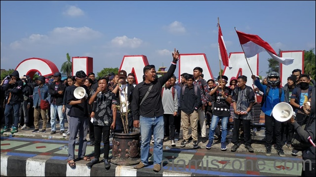 Dikawal 500 Personel, Aksi Gabungan Mahasiswa Ciamis Kondusif