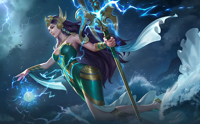 Kadita Ocean Goddess Heroes Mage of Skins New Mobile Legends Wallpaper HD for PC