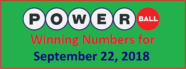 PowerBall Winning Numbers for Saturday, 22 September 2018