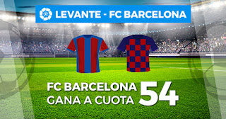 Paston Megacuota Levante vs Barcelona 2 noviembre 2019