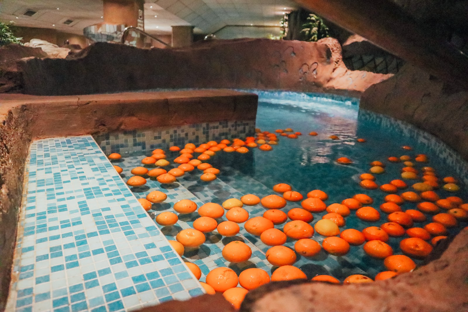 Citrus pool at the spa barcelona