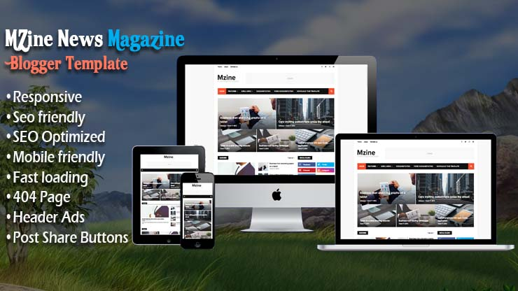 MZine News Magazine Premium Responsive Blogger Template