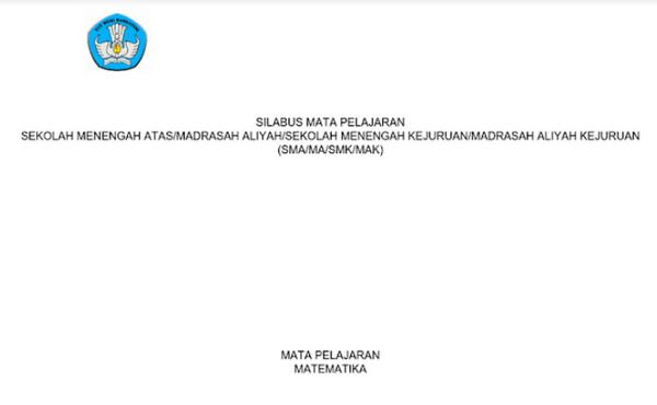 Silabus Matematika Wajib SMA-MA-SMK-MAK Kurikulum 2013 Revisi 2017 pdf