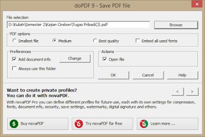 Konfigurasi doPDF