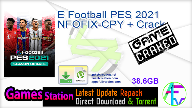 E Football PES 2021 NFOFIX-CPY + Crack