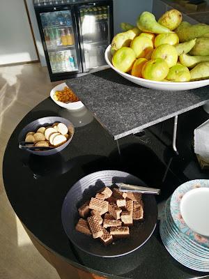 Cookies and fruit, Executive Lounge, Hilton Strand Helsinki