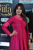 Monal Gajjar in Maroon Gown Stunning Cute Beauty at IIFA Utsavam Awards 2017 033.JPG