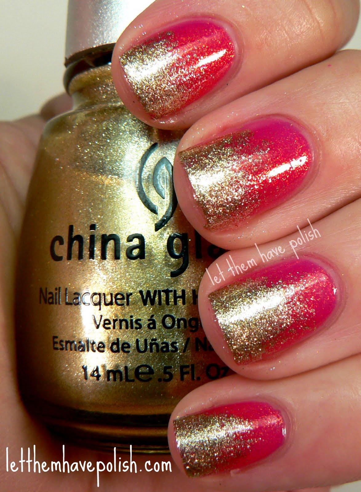 China Glaze Presenta Crakle Glaze: Let Them Have Polish!: Pink Wednesday!! China Glaze
