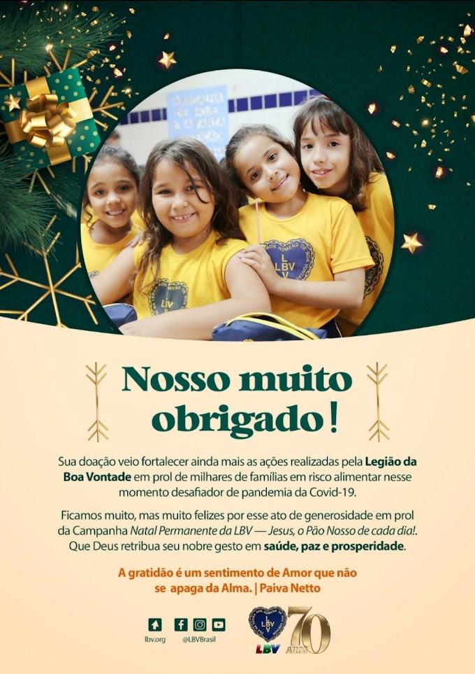 LBV/Recife | Equipe da LBV Recife agradecem à todos os seus colaboradores e amigos