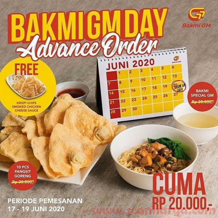 Promo Bakmi GM Day Terbaru Cuma 20RB! Periode Pemesanan 17 - 19 Juni 2020