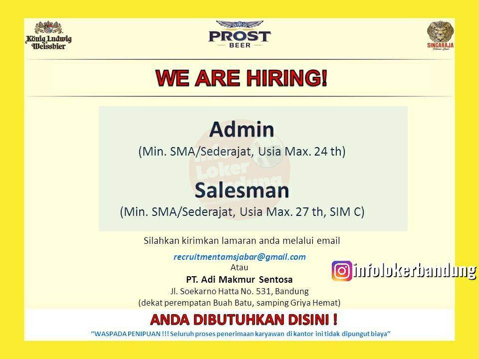 Lowongan Kerja PT. Adi Makmur Seontosa Bandung Juli 2019