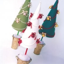 Potted Paper Cones