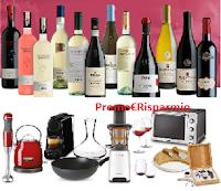 Logo ''Il vino più buono'' : buoni da 10€ come regalo certo, cumulabili per richiedere i premi preferiti