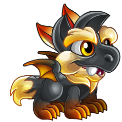 Appearance of Firewolf Dragon when baby