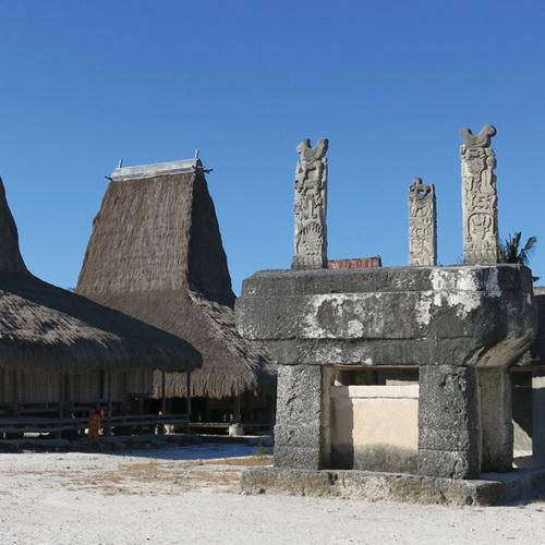 Tinuku Travel Praiyawang Village, the oldest East Sumba royal aristocratic complex preserving megalithic tombs and Kabokang dance