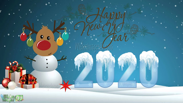 Happy New Year 2020 1080p Full HD Wallpaper Download Free