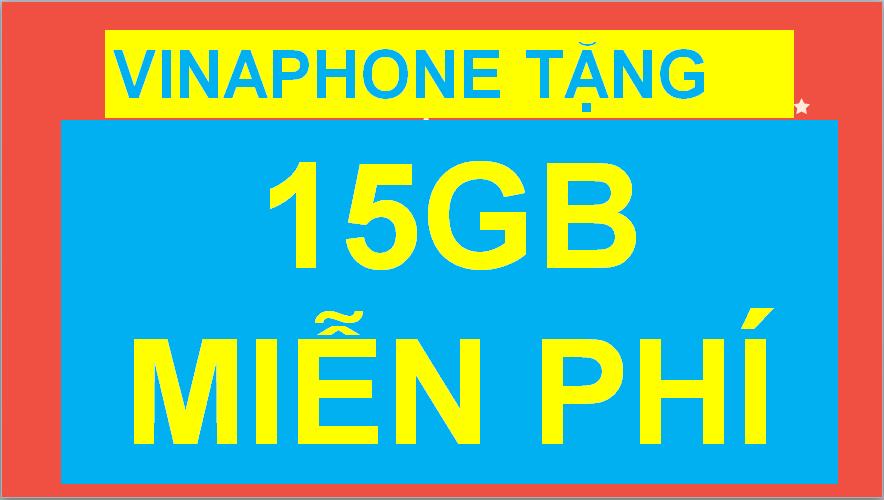 Vinaphone tặng 15GB Data