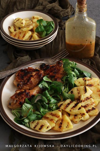 kurczak z grilla, co na grilla, potrawy na grilla, jak zrobić sos vinaigrette, jak się robi sos winegret, daylicooking, dania na majówkę