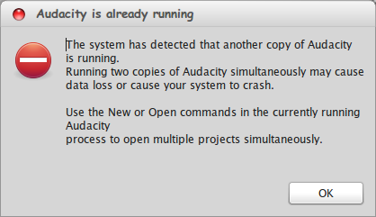 Mengatasi Audacity Is Already Running di Linux