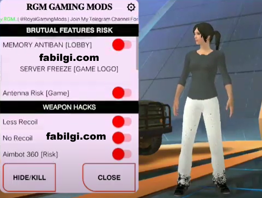 Pubg Lite RGM Gaming Menu Aim, Recoil Apk Hile Şubat 2021