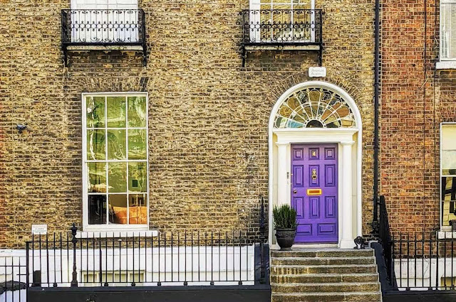Dublin Hidden Gems: Purple Georgian Door on Fitzwilliam Square