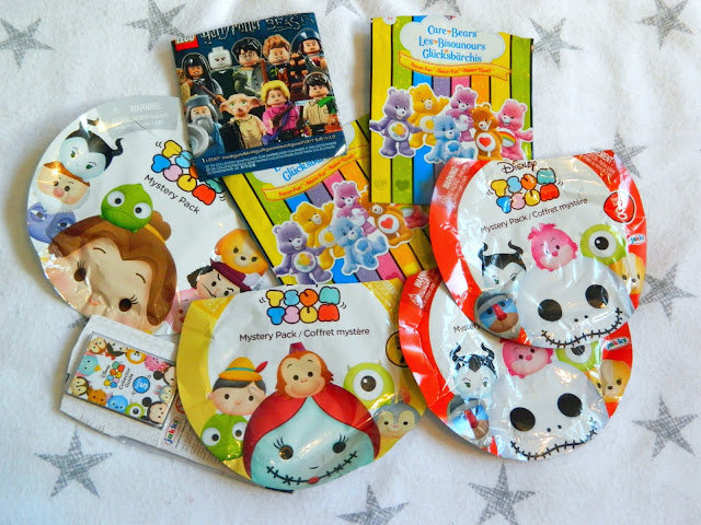 Several packages from various surprise toy bags,