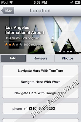 Navigate From Maps 2.1.1 - iPhone Family World | iPhone Hacks | iPhone Family