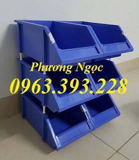 Khay linh kiện xếp chồng, Kệ dụng cụ xếp tầng, Hộp nhựa đựng linh kiện 668960f2d13a36646f2b