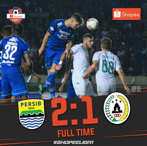 Persib Bandung vs PSS Sleman 2-1 Highlights Liga 1 Minggu 15/3/2020