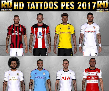 PES 2017 New Tattoo HD (8 Players)