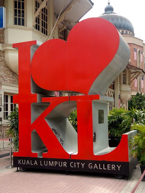 I heart KL sign, Kuala Lumpur, Malaysia