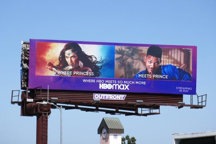 HBO Max Wonder Woman billboard