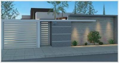 model pagar minimalis batu alam terbaru