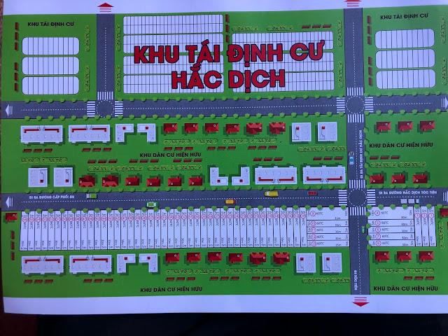 Sơ đồ phân lô đất KDC trung tâm Phường Hắc Dịch đối diện KCN Samsung 43ha