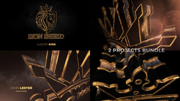 Gold Black Luxury And Epic Logo Reveal