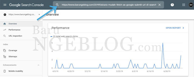 Cara Mudah Fetch As Google (Submit URL) di Search Console Terbaru