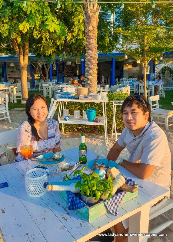 date night in Fish Beach Taverna Dubai