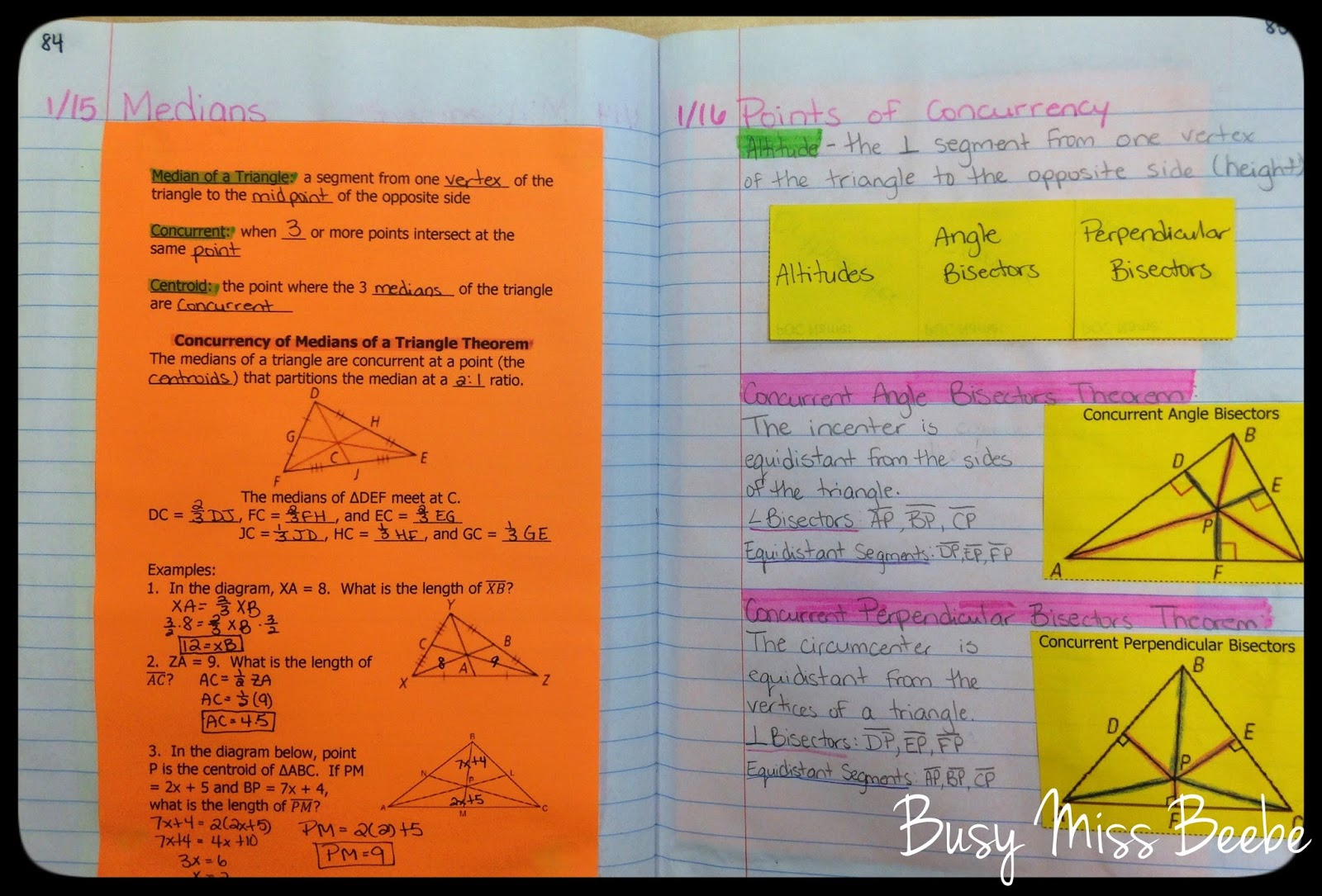 Busy Miss Beebe Geometry Inb Unit 6 Triangle