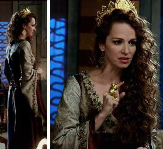 Figurino rainha Elda (Francisca Queiroz) Os Dez Mandamentos segunda temporada
