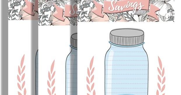Malena Haas Freebie Friday Printable Mason Jar Savings