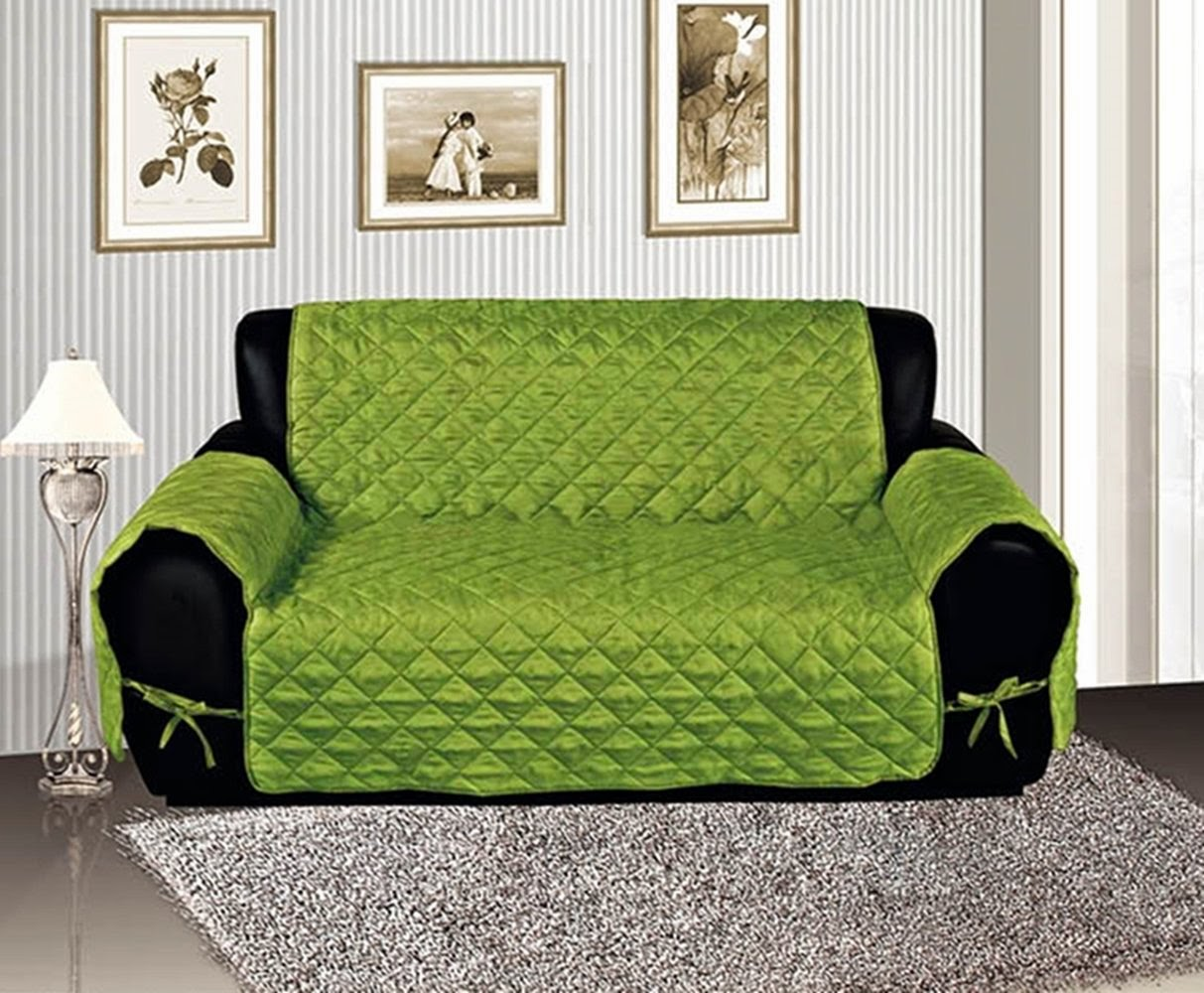 Green Dog Couch Cover
